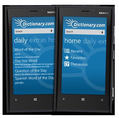 Dictionary.com for Windows Phone