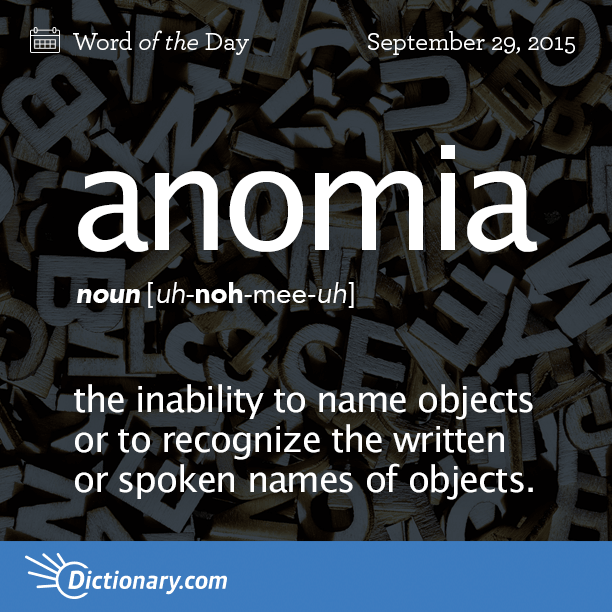 anomia - word of the day | dictionary, Skeleton