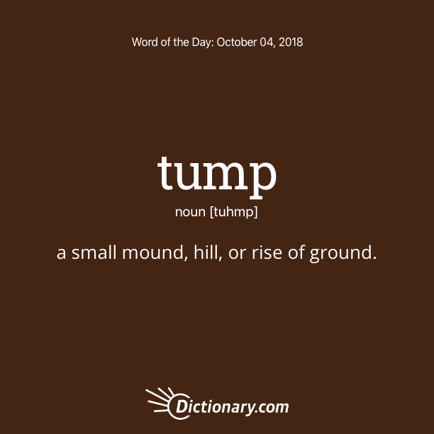 Get the Word of the Day - tump | Dictionary.com