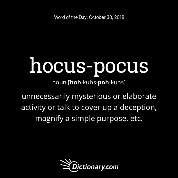 hocus-pocus Word of the Day